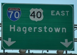 Hagerstown highway sign (courtesy of AARoads)